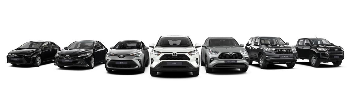 Нові автомобілі Toyota на складі в Україні