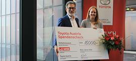 Toyota Austria überreicht Spendenscheck an MIVA Austria