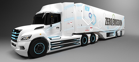 Schwerer Brennstoffzellen-LKW für Nordamerika